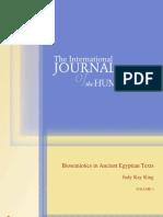 Bio Semiotics in Ancient Egyptian Texts 2 Final