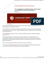 Socialism is 'Imperative' Communist Leaders Detail Their Plans for America at Party Conference Over the Weekend