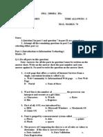 Computer Studies Paper A
