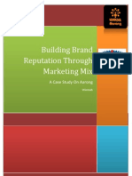 Building Brand Reputation Through Marketing Mix - A Case Study on Arong