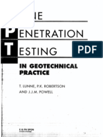 Cone Penetration Testing in Geotechnical Practice