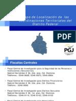 PGJDF Coordinaciones Territoriales en el Distrito Federal