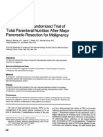 Brennan MF, Pisters PW, Posner M, Et Al. a Prospective Randomized Trial of Total Parenteral Nutrition After Major Pancreatic Resection for Malignancy. Ann Surg 220 (4), 436-41; Discussion 441-4, 1994