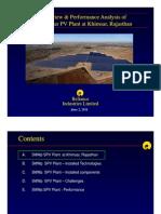 Performance Analysis 5Mwp Solar PV Plant