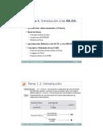 TEMA 1 Introducción a las BBDD y SGBD