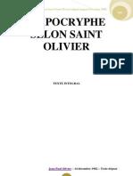 Apocryphe Selon Saint Olivier