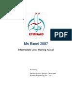 MS Excel2007 Intermediate Course Manual
