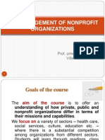The Management of Nonprofit Organization v3
