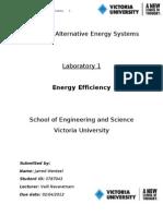 VEE4800 Alternate Energy Lab 1 Report