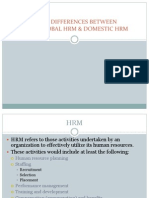 Differences Between Ghrm and Ihrm