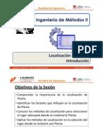 Sesión 4.1 IM II - UPN - Localización de Planta - Introducción
