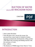 Construction of Water Bound Macdam Road