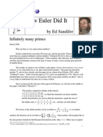 How Euler Did It 29 Infinitely Many Primes