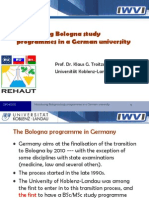 Introducing Bologna Study Programmes in a German University