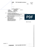 1998 Biology Marking Scheme