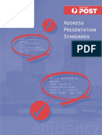 Australia Post Address Presentation Standard