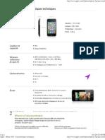 Apple - iPhone 3GS - Caractéristiques techniques