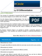 History of Differentiation