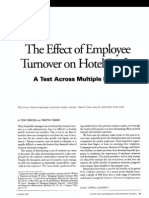 Effect of Employee Turnover on Hotel Profits