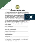 Pres Checklist