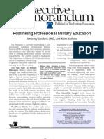 Carafano Rethinking Professional Military Education