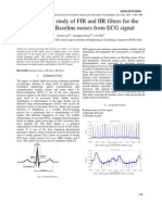 Comparative Study of FIR and IIR Filters for The
