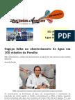 Cagepa falha no abastecimento de água em 100 cidades da Paraíba