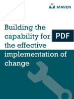 Building Capability for Effective Implementation of Change