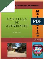 CARTILLA DE ACTIVIDADES 2012