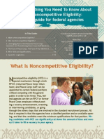 Peace Corps Noncompetitive Eligibility (NCE)