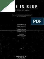 Andre Popp - Love is Blue - 1966 - Sheet Music