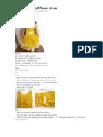 American Girl Doll Flower Dress