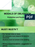 Modals Obligation Prohition and Permission