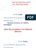 Data Reconciliation for Material Balance