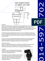 1-2Inch MBSP x 3-4Inch FBSP - Plastic Angled Tundish