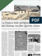 Puesta en valor de patrimonio y cultura en huaca del Rimac