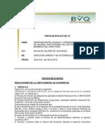 SANTA FE VALORES - Inf Circular 087