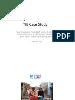 Claire Jackson JWT London / Plan International case study