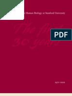 Human Biology at Stanford (History)
