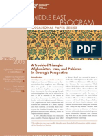 A Troubled Triangle Afghanistan, Iran, And Pakistan in Strategic Perspective