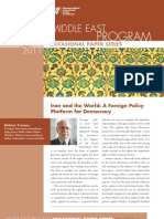 Iran and the World a Foreign Policy Platform for Democracy