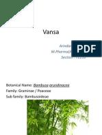 Bamboo (Vansa) The Ayurvedic Medicinal plant
