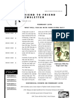 Friend to Friend Newsletter February 2012