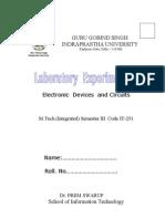Iiisem Lab Expts 2009-1