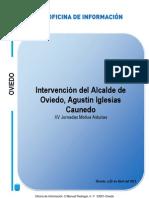 Intervención de Agustín I.Caunedo, Alcalde de Oviedo, en la inauguración de las XV Jornadas Motiva