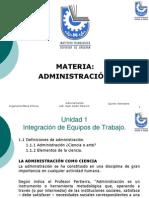 Catedra Administraciòn I (IM) Unidad I ok