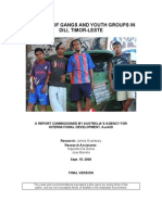 Report Youth Gangs in Dili