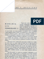 Romania Regelui Ferdinand de G.Bratianu