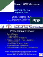 cGMP in Clinical Investigation