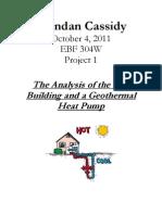 Analysis of a Geothermal Heat Pump